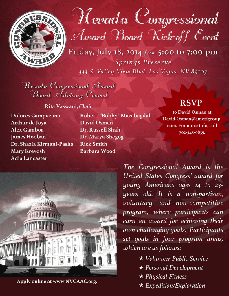 NV Congressional Awards BAC - July 18 Flyer - WEB version REVISED v3[2]