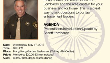 May 17, 2017: LVICC Event – 2017 Sheriff's Asian Advisory Council